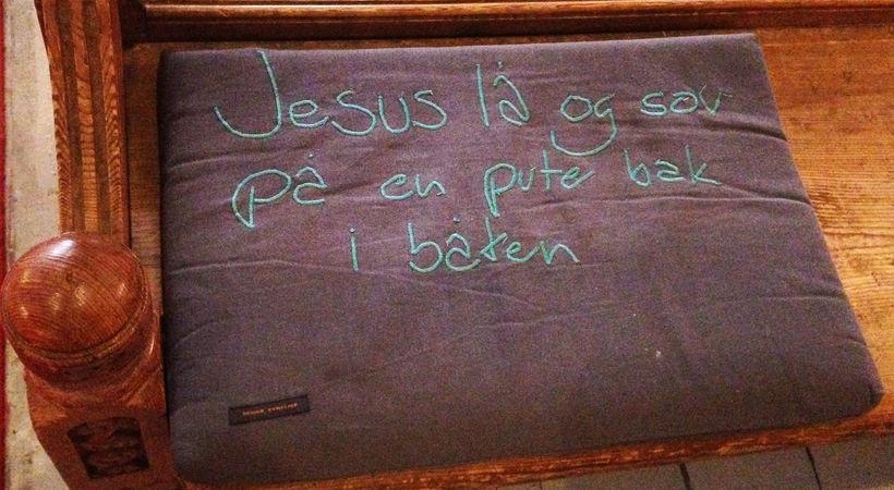 Jesus sov, men var alltid klar