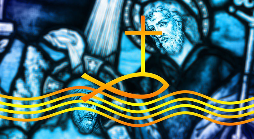 Jesus blir døpt (Matteus 3,13-17)
